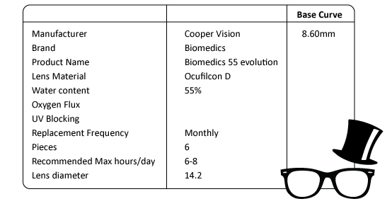 CooperVision-Biomedics55-spec